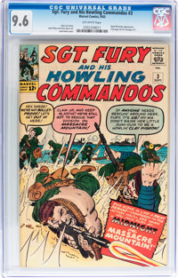 Sgt. Fury and His Howling Commandos #3 (Marvel, 1963) CGC NM+ 9.6 Off-white pages
