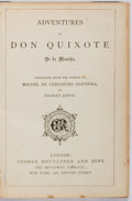 Books:Literature Pre-1900, [Charles Jarvis, Translator]. Miguel de Cervantes. Adventures ofDon Quixote de la Mancha. London: Routledge, undate...