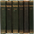 Books:Literature Pre-1900, Tennyson, Alfred. The Poetical Works of Alfred Tennyson. London: King, 1875-1877. Octavo. Five volumes with one dupl... (Total: 6 Items)