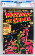 Golden Age (1938-1955):Science Fiction, Mystery in Space #3 (DC, 1951) CGC VF/NM 9.0 Off-white pages....