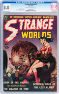 Golden Age (1938-1955):Science Fiction, Strange Worlds #2 (Avon, 1951) CGC VF 8.0 Off-white to whitepages....