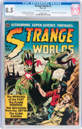 Golden Age (1938-1955):Science Fiction, Strange Worlds #3 (Avon, 1951) CGC VF+ 8.5 Off-white to whitepages....