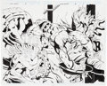 Original Comic Art:Splash Pages, Dan Jurgens and Art Thibert Captain America #36 DoubleSplash Page 2 and 3 Original Art (Marvel, 2000)....