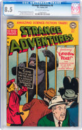 Golden Age (1938-1955):Science Fiction, Strange Adventures #8 (DC, 1951) CGC VF+ 8.5 Off-white to white pages....