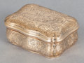 Silver Smalls:Snuff Boxes, A CONTINENTAL 14K GOLD SNUFF BOX . Maker unidentified, circa 1900.Marks: (CK), (arrow-CCS-in diamond). 2-1/2 inches high (6...