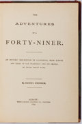Books:Americana & American History, [California Gold Rush]. Daniel Knower. The Adventures of aForty-Niner. Albany: Weed-Parsons, 1894. First edition. O...