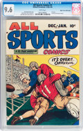 Golden Age (1938-1955):Miscellaneous, All Sports Comics #2 Mile High pedigree (Hillman Publications, 1948) CGC NM+ 9.6 White pages....