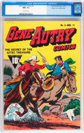 Golden Age (1938-1955):Western, Gene Autry Comics #3 Mile High pedigree (Fawcett Publications,1942) CGC NM+ 9.6 Off-white pages....