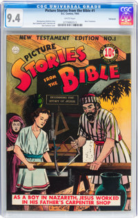 Picture Stories from the Bible New Testament #1 Vancouver pedigree (DC, 1944) CGC NM 9.4 White pages