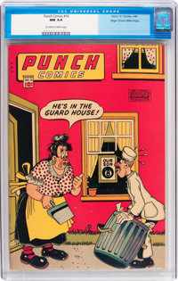 Punch Comics #16 Mile High pedigree (Chesler, 1946) CGC NM 9.4 Off-white to white pages