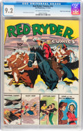 Golden Age (1938-1955):Western, Red Ryder Comics #16 Mile High pedigree (Dell, 1943) CGC NM- 9.2Off-white to white pages....