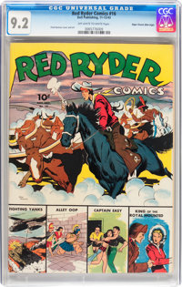 Red Ryder Comics #16 Mile High pedigree (Dell, 1943) CGC NM- 9.2 Off-white to white pages