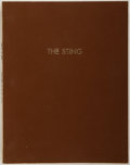 Entertainment Collectibles:TV & Radio, [Production Script]. David S. Ward. The Sting. Copy ofshooting script. Ca. 1973. Quarto. 129 leaves. Brown vinyl co...