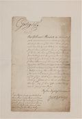 Autographs:Non-American, George III of England Pay Order Signed...