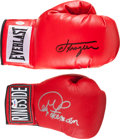 Boxing Collectibles:Autographs, George Foreman and Joe Frazier Signed Memorabilia Lot of 3....