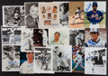 Autographs:Photos, Baseball Greats Signed Photographs Lot Of 18. ...