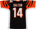 Football Collectibles:Uniforms, Andy Dalton Signed Bengals Jersey....