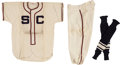 Baseball Collectibles:Uniforms, Circa 1950's Wilson Sporting Goods Flannel Baseball Complete Uniform and Box....