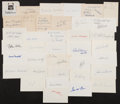 Autographs:Index Cards, Baseball Greats Signed Index Cards and cuts Lot Of 37. ...