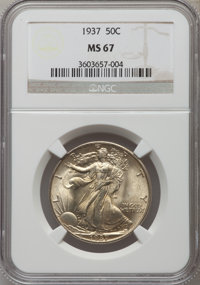 1937 50C MS67 NGC. NGC Census: (77/1). PCGS Population (128/4). Mintage: 9,527,728. Numismedia Wsl. Price for problem fr...