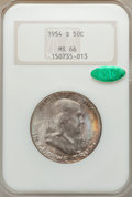 Franklin Half Dollars, 1954-S 50C MS66 NGC. CAC. NGC Census: (389/7). PCGS Population(207/2). Mintage: 4,993,400. Numismedia Wsl. Price for probl...
