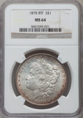 Morgan Dollars: , 1878 8TF $1 MS64 NGC. NGC Census: (1962/391). PCGS Population(2439/554). Mintage: 699,300. Numismedia Wsl. Price for probl...