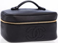 Luxury Accessories:Accessories, Chanel Black Caviar Leather Cosmetic Case Bag . ...