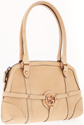 Luxury Accessories:Bags, Gucci Beige Leather Small Shoulder Bag with Copper Tone Hardware....