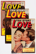 Golden Age (1938-1955):Romance, Ten Story Love Group (Ace, 1952-53) Condition: Average VF....(Total: 10 Comic Books)