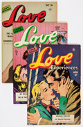 Golden Age (1938-1955):Romance, Love Experiences Group (Ace, 1951-56) Condition: Average FN....(Total: 18 Comic Books)