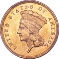 Three Dollar Gold Pieces, 1859 $3 MS66 PCGS....