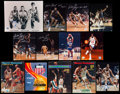 Basketball Collectibles:Photos, Basketball Greats Signed Photographs Lot of 13....