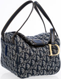 Luxury Accessories:Accessories, Christian Dior Blue Monogram Canvas Small Bag . ...