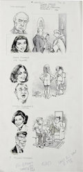 "Original Comic Art:Sketches, Mort Drucker - Mad #243 Page Original Art, Group of 2 (EC, 1983). Mort Drucker answers the question, ""If Certain Celebrities... (Total: 2 Items)"