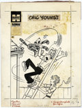 Original Comic Art:Covers, Paul Fung Jr. (attributed) - Blondie Comics #94 Cover Original Art(Harvey, 1956). A little spring cleaning turns into guerr...