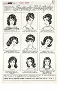 "Original Comic Art:Splash Pages, Al Hartley - Patsy Walker #124 Hedy Wolfe Splash Page ""Hedy'sHeavenly Hairstyles"" Original Art (Marvel, 1965). Hedy's sultr..."