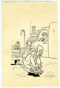 Original Comic Art:Covers, Warren Kremer - Baby Huey, the Baby Giant #83 Cover Original Art(Harvey, 1968). Baby Huey winds in and out of traffic on a ...