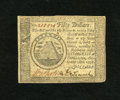 Colonial Notes:Continental Congress Issues, Continental Currency September 26, 1778 $50 Very Fine-ExtremelyFine. This is a very nice example with primarily broad margi...