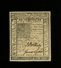Colonial Notes:Delaware, Delaware January 1, 1776 5s Gem New. An utterly superb example ofthis more available Delaware issue which has four broad ma...