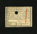 Colonial Notes:Massachusetts, Massachusetts May 5, 1780 $20 About New. Here is a crisp examplewith only minor signs of handling that prevent a higher gra...