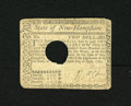 Colonial Notes:New Hampshire, New Hampshire April 29, 1780 $2 Very Fine. A couple of light foldsare seen on this New Hampshire hole cancelled note which ...