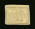 Colonial Notes:North Carolina, North Carolina August 8, 1778 $5 Extremely Fine. A lovely exampleof this uncommonly seen North Carolina series that has fou...