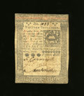 Colonial Notes:Pennsylvania, Pennsylvania October 1, 1773 15s About New. Three solid signaturesare found on this note that has a single center fold and ...