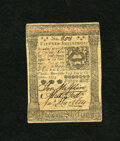 Colonial Notes:Pennsylvania, Pennsylvania October 1, 1773 15s Extremely Fine. This note exhibitsa criss cross fold pattern on otherwise crisp surfaces....