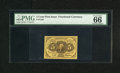 Fractional Currency:First Issue, Fr. 1230 5c First Issue PMG Gem Uncirculated 66. Four boardwalk margins are found on this impressive first issue type note w...