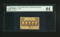 Fractional Currency:First Issue, Fr. 1280 25c First Issue PMG Choice Uncirculated 64. This is another exceptional example of a very scarce variety that has b...