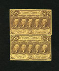 Fractional Currency:First Issue, Fr. 1281 25c First Issue Two Examples. This lot contains a note that grades New and another that is XF....