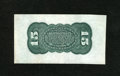 Fractional Currency:Third Issue, Fr. 1272SP 15c Third Issue Extremely Fine. This bright Grant/Sherman Wide Margin Specimen back is quite bright with a trio o...