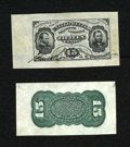 Fractional Currency:Third Issue, Fr. 1275SP 15c Third Issue Wide Margin Specimen Pair Choice About New. This is a stunning wide margin pair of this rare Alli...