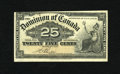 Canadian Currency: , DC-15b Dominion of Canada 1900 25¢ Boville. This Shinplaster gradesFine-Very Fine....